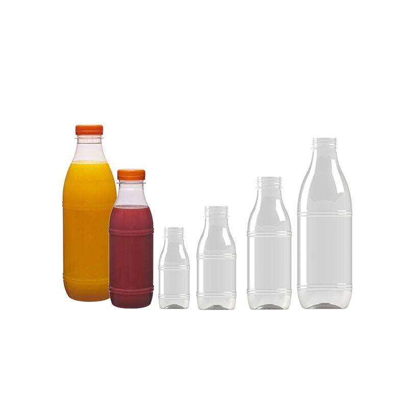 Bouteille transparente pour jus de fruits frais