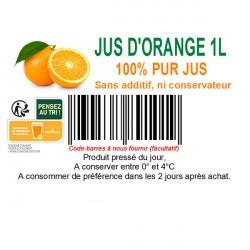 Etiquette pour vos jus de fruits frais