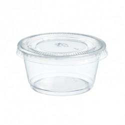 Pot à vinaigrette transparent et son couvercle - 60 ml