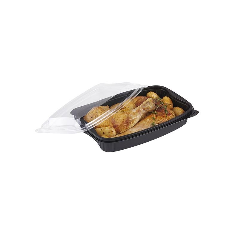 Barquette base noire micro-ondable pour demi poulet